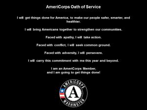 americorps oath of service